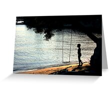 The Swing and the boy Greeting Card