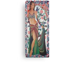 Beautiful Exotic Belly Dancer Woman Canvas Print