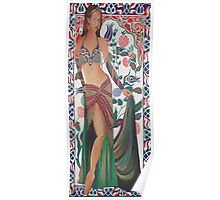 Beautiful Exotic Belly Dancer Woman Poster