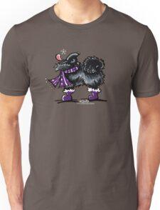 Black Pomeranian Winter Magic Unisex T-Shirt