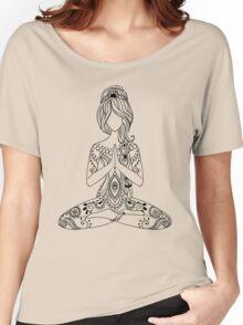 Yoga Om Chakras Mindfulness Meditation Zen 3 Women's Relaxed Fit T-Shirt