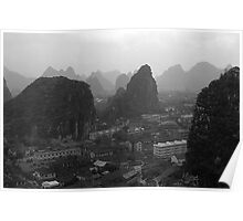 BW China Guilin city 1970s Poster