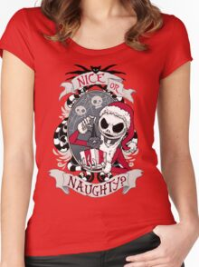 Scary Santa Women's Fitted Scoop T-Shirt