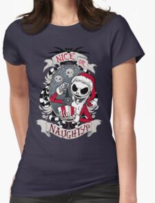 Scary Santa Womens Fitted T-Shirt