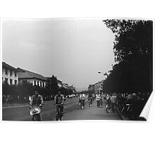 BW China Guilin street bicycles 1970s Poster