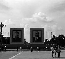 BW China Pekin Tiananmen square 1970s by blackwhitephoto