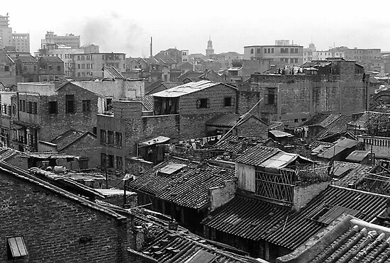 BW China Canton city 1970s by blackwhitephoto