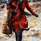 Rainy day - Woman of New York /10 by Imre Toth (Emerico)