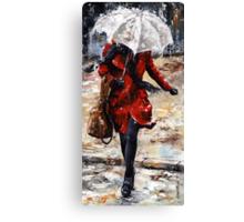 Rainy day - Woman of New York /10 Canvas Print