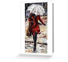 Rainy day - Woman of New York /10 Greeting Card