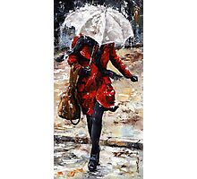 Rainy day - Woman of New York /10 Photographic Print