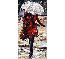 Rainy day - Woman of New York /10 Photographic Print