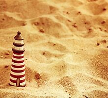 Redscale Lighthouse In The Sand by hazybaby