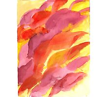 Red, Orange and Yellow Abstract Photographic Print
