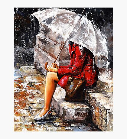 Rainy day - Woman of New York Photographic Print