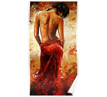 Lady in red /27 - soft nude Poster