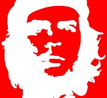 Che, Guevara, Rebel, Cuba, Peoples Revolution, Freedom, in white by TOM HILL - Designer