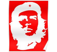 Che, Guevara, Cuba, Peoples Revolution, Freedom, in white Poster