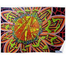 367 - FRAGMENTED FLORAL FANTASY - DAVE EDWARDS - COLOURED PENCILS - 2012 Poster
