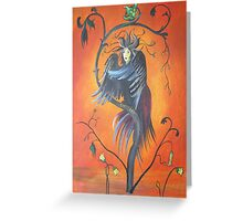 Gamaun The Prophetic Bird With Ruffled Feathers Greeting Card
