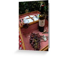 From the Vine to the Bottle Greeting Card