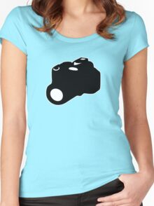 appareil photo camera SLR Women's Fitted Scoop T-Shirt