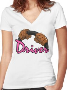 DRIVER!! Women's Fitted V-Neck T-Shirt