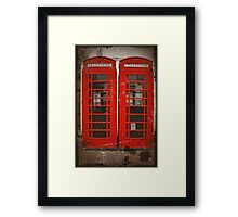 Red Telephone Boxes Framed Print