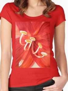 Amaryllis II Women's Fitted Scoop T-Shirt
