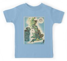 Vintage poster - Great Britain Kids Tee