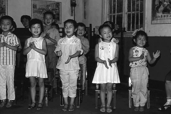 BW China Changsha childcare 1970s by blackwhitephoto