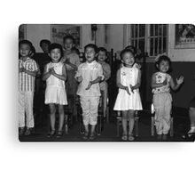 BW China Changsha childcare 1970s Canvas Print