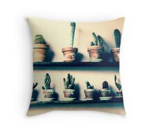 CACTUS IN ROW!!! Flowers Throw Pillow