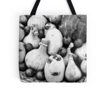 THERE IS A FUNNY FACE POTATO THERE!!! Food in B&W  Tote Bag