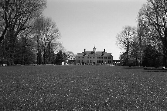 BW USA Mount Vernon George Washington house 1970s by blackwhitephoto
