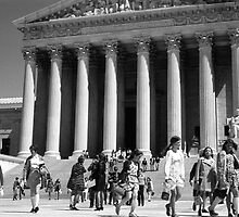 BW USA Washington Memorial Lincoln 1970s by blackwhitephoto