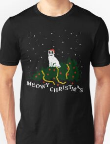 meowy christmas - cat vs. tree Unisex T-Shirt