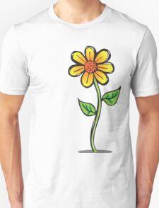 Pretty cartoon daisy flower growing Unisex T-Shirt