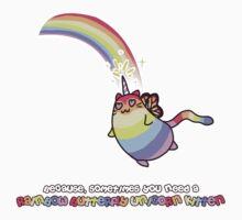 Rainbow Butterfly Unicorn Kitten by zerojigoku