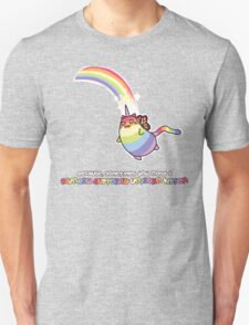 Rainbow Butterfly Unicorn Kitten Unisex T-Shirt