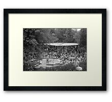 BW USA California Disneyland Indian village 1970s Framed Print