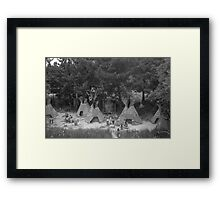 BW USA California disneyland Indian camp 1970s Framed Print