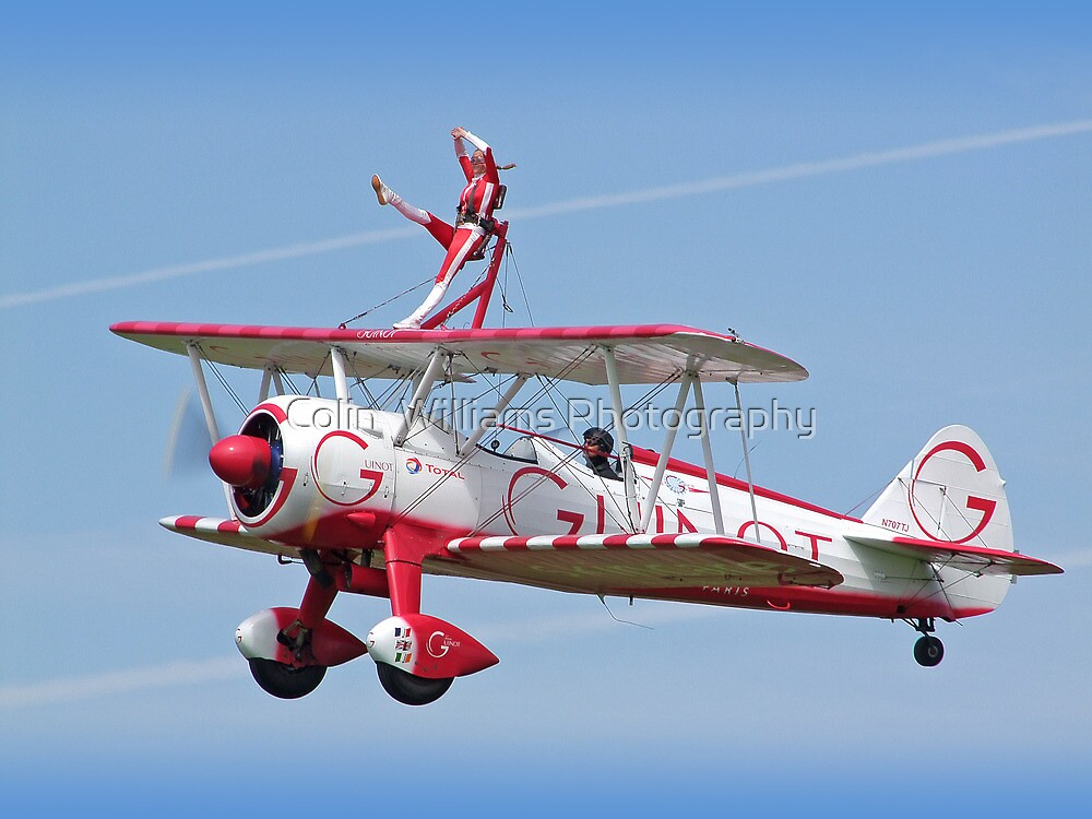 Wingwalking - Shoreham Airshow 2009 by Colin  Williams Photography