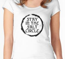 Stay in the salt circle - Black Women's Fitted Scoop T-Shirt