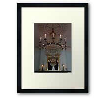Chandelier Refelctions Framed Print