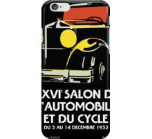 Vector art deco Brussels 1930s auto salon iPhone Case/Skin
