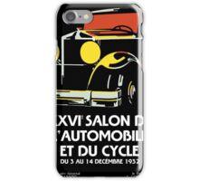 Vector Art Deco Brussels 1930s auto salon iPhone Case/Skin