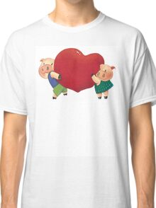 "Valentine's Day ""Pigs In Love"" T-Shirt Classic T-Shirt"
