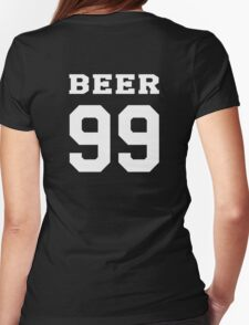 Beer 99 madison - white Womens Fitted T-Shirt