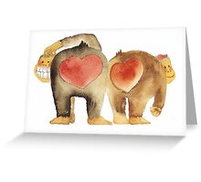 Valentine's Day Abstract Love Monkeys T-Shirt Greeting Card